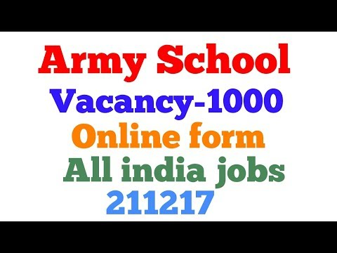 Army Public School Recruitment 2017 for TGT , PGT , PRT Posts