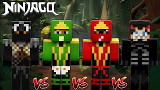 THE LITTLE CLUB NINJAGO CHALLENGE - WHO IS THE BEST LEGO NINJAGO?? Baby Duck Minecraft Adventures