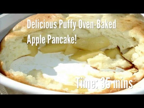 Delicious Puffy Oven-Baked Apple Pancake! Recipe