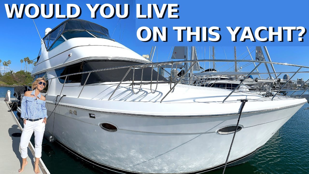 $269,000 Motor Yacht Tour / CanNOT afford to buy a Condo in Los Angeles? You Can Live aboard this!