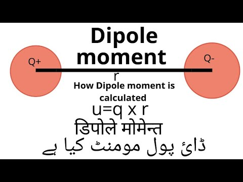 What is dipole moment and how it is calculated practically in hindi and urdu