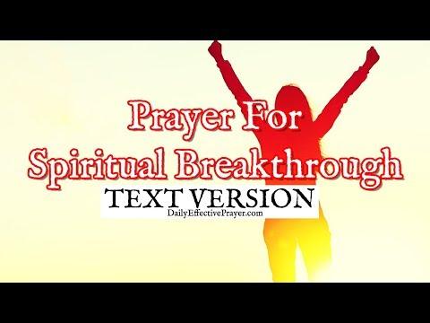 Prayer For Spiritual Breakthrough (Text Version - No Sound)