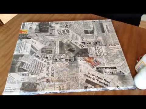 The Crafting Coach: learn how to make newspaper silhouette wall art