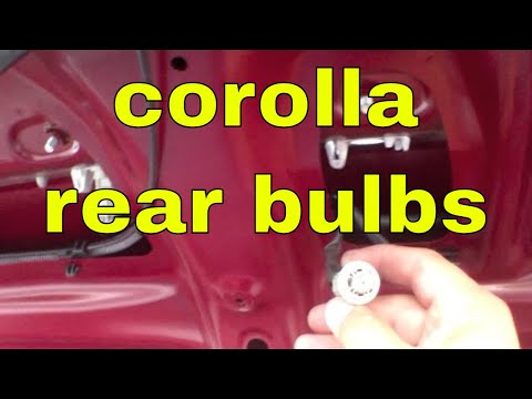 How to replace license plate and tail light bulb Toyota Corolla √