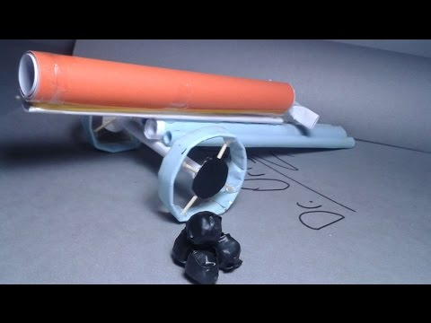 |DIY| How to make a paper cannon that shoots paper ball-Very Powerfull -easy tutorial