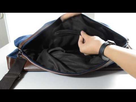Leaper Canvas Leather Trim Shoulder/Tote Duffel Bag Silent Review