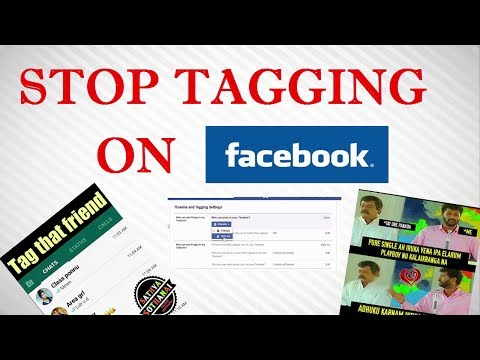 How to Stop People Tagging You on Facebook  [Turn-off facebook Tagging]