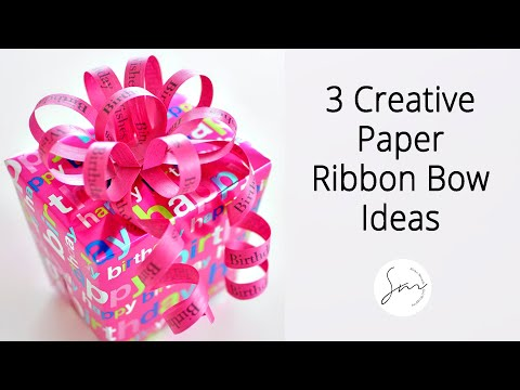 Beautiful Ribbon Art for Your Gift Wrapping