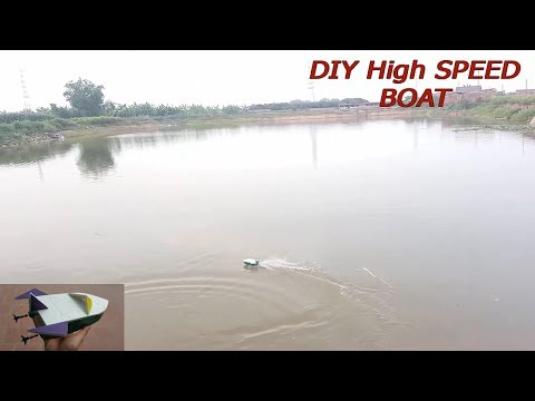 How to make a HIGH SPEED BOAT using 180 motor || DIY BY HTCREATIVE