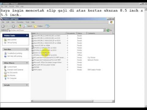 Cara Setting Kertas Ukuran Tertentu (Custom Size Paper) di Windows