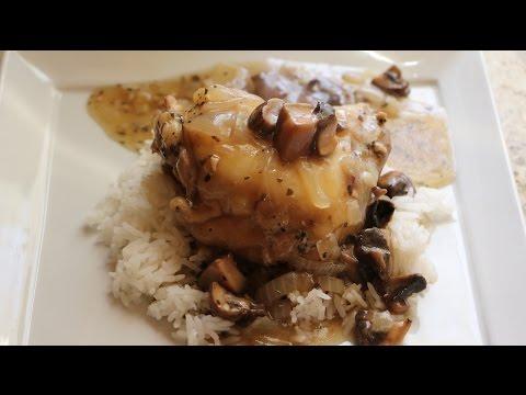 Chicken w/ White Wine & Mushroom Sauce Short
