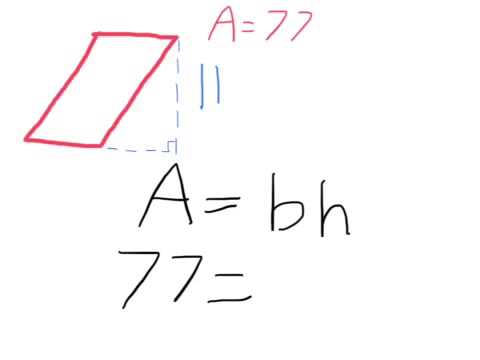 Finding the Base of a Parallelogram
