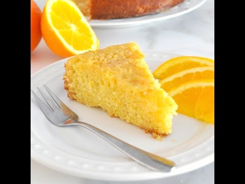 Soft and Moist Orange Cake with Orange Glaze by Cooking with Manuela