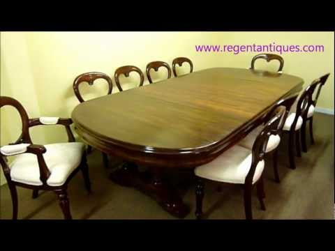 03276 10ft Antique Victorian Dining Table.wmv