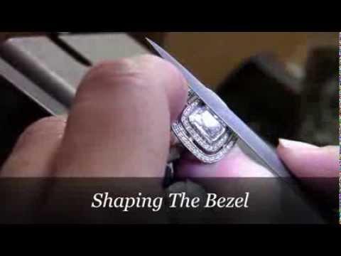 Custom Engagement Rings - Making Megan's Double Halo Cushion Cut Engagement Ring