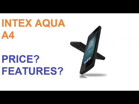 Intex Aqua A4 price 4199 Features and Specifications With Android 7.0 Nougat, 4G VoLTE Support