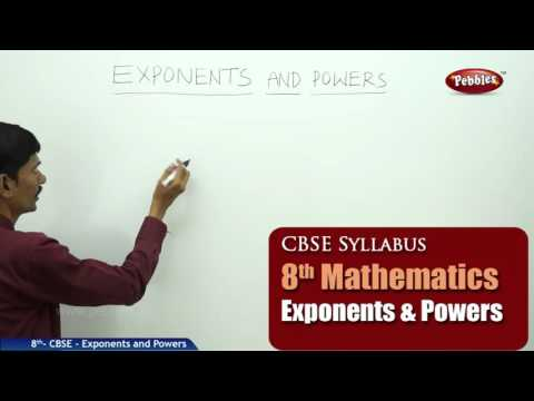 Exponents and Powers | Class 8th Mathematics | NCERT | CBSE Syllabus | Live Videos