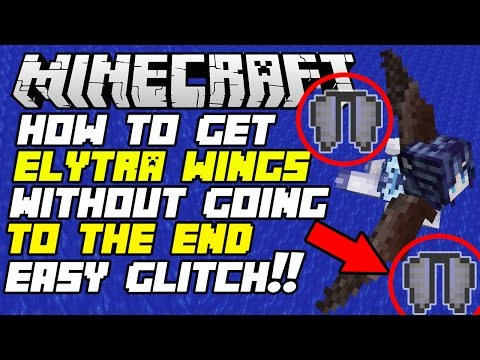 Minecraft PS4/Xbox One:✔ How To Get Elytra Wings Without Defeating Ender Dragon!!  *SURVIVAL GLITCH*