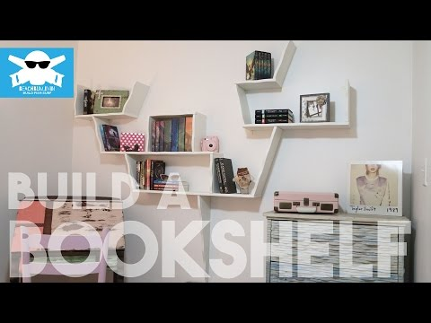 How-to Build a COOL Bookshelf // BeachBumLivin