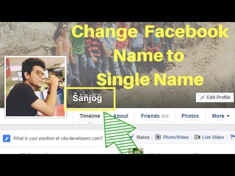 Change Your Facebook Full Name to Single Name (100% Working)