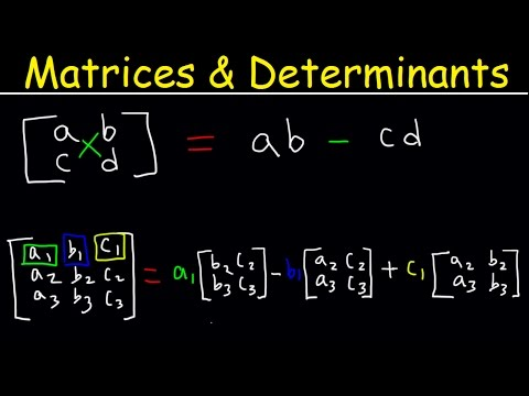 Determinant of 3x3 Matrices, 2x2 Matrix, Precalculus Video Tutorial