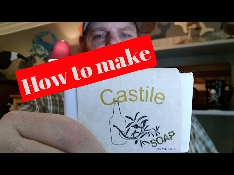 How to make soap! Simple castile recipe.