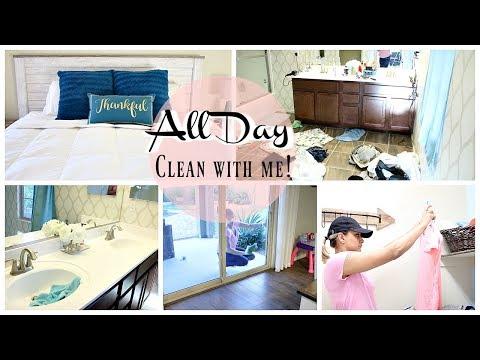 ALL DAY CLEAN WITH ME 2018 | WHOLE HOUSE CLEANING