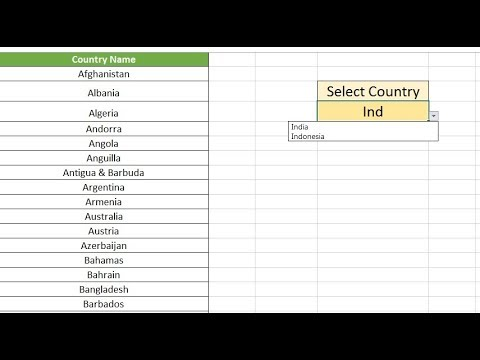 Excel Tip: Searchable drop down list in Excel