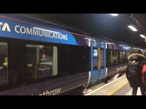 Heathrow express train approaching terminal 3 at Heathrow