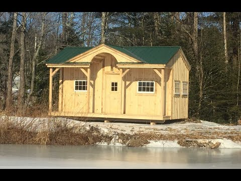You Can Build it yourself with this DIY Cabin Kit 14x20 Gibraltar with 8' wall option