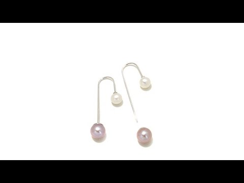 Imperial Pearls 68.5mm Cultured Pearl  Double Drops