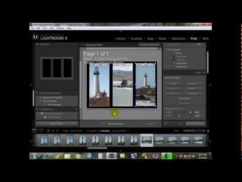 Custom Templates in Adobe Lightroom 4