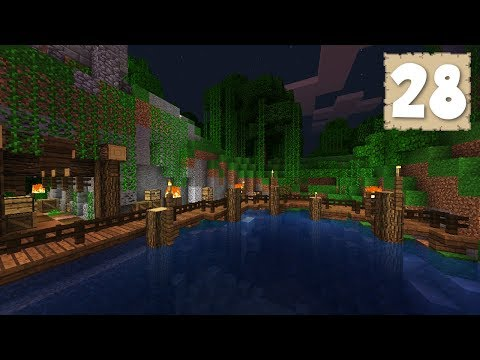 FISHING DOCKS!!! - Survival Let's Play Ep. 28 - Minecraft 1.2.8