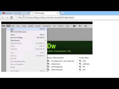 How to Insert image and hyperlink in Dreamweaver CS6