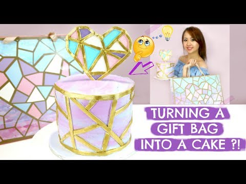 EASY WATERCOLOUR Buttercream Cake! GEOMETRIC Cake patterns