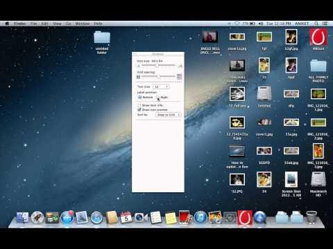 How to change desktop icon size on Mac OS