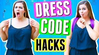 SAVAGE DRESS CODE HACKS FOR SCHOOL!! BACK TO SCHOOL 2017 LIFE HACKS!