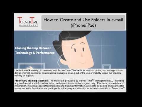 How to Create and Use Folders in e-mail (iPhone/iPad/iPad iOS 9)