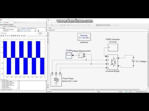 Part 1: Inverter and filter design MATLAB Simulink / Inverter ve filtre tasarımı matlab simulink