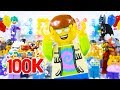 LEGO Celebration Party STOP MOTION LEGO 100k Party With Minifigures LEGO City By Billy Bricks