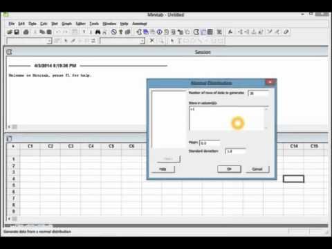 Create random data in minitab