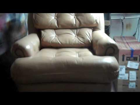 Urine  and Color Damaged Leather Furniture Restoration