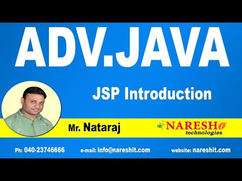 JSP Introduction | Advanced Java Tutorial | Mr. Nataraj