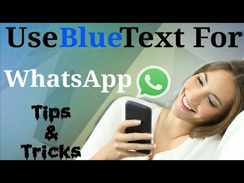 How to Type Blue Color text in WhatsApp
