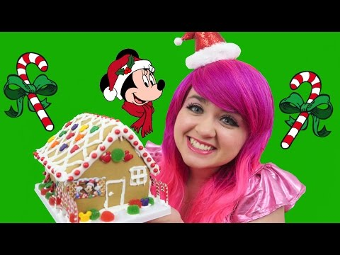 Let's Make A Gingerbread House! | DIY Disney Holiday Gingerbread House Kit| KiMMi THE CLOWN