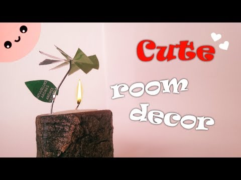 Cute DIY Room Decor - Spinning Flower Candle!
