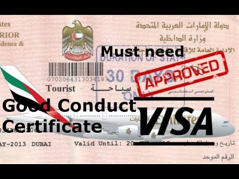 visit visa candidate in UAE ||How to apply for a Good Conduct Certificate || technical Fahim