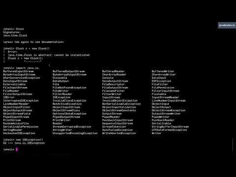 JShell Basics 11 - Imports