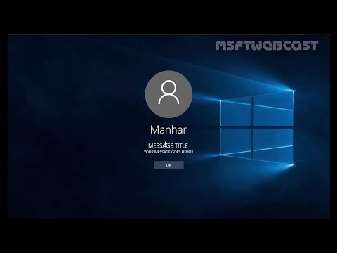 How to Display Custom Message Banner on the Windows 10 Login Screen