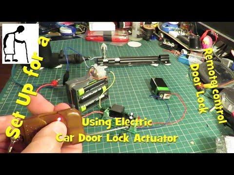 Walk Through Set up remote door lock using Electric Car Door Lock Actuator